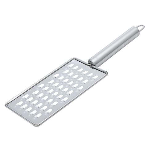"Stainless Steel Cheese Grater Fruit Vegetable Grater for Restaurant - Silver Tone - 10.2"" x 3.3"""