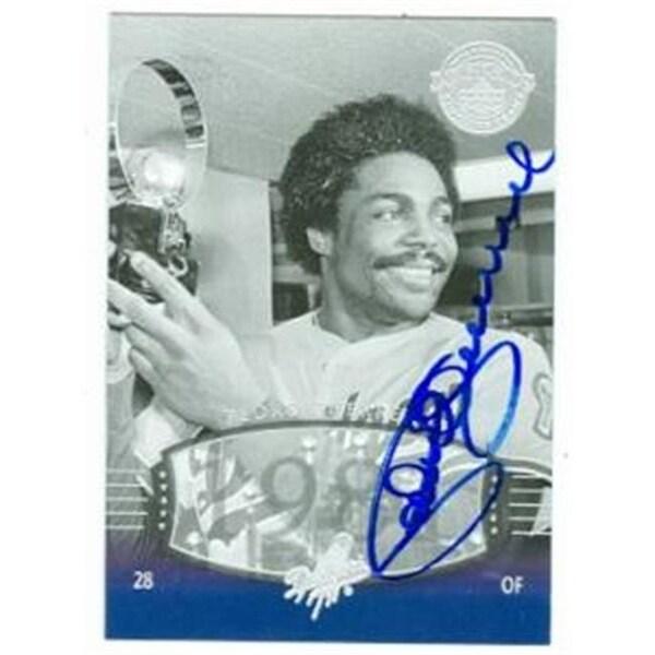 Pedro Guerrero Autographed Baseball Card Los Angeles Dodgers 2004