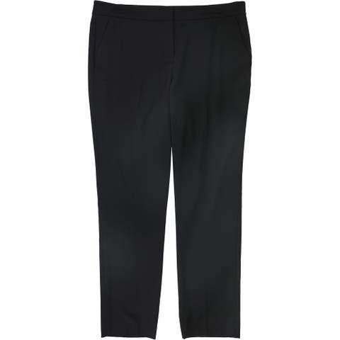 Vince Camuto Womens Solid Casual Trouser Pants, Black, 10
