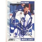 Dave McLlwain Toronto Maple Leafs 1992 Score Autographed Card This item comes with a certificate of authenticity from