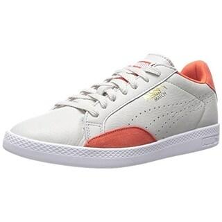 Puma Womens Match Lo Basic Sports Leather Perforated Fashion Sneakers - 8 medium (b,m)