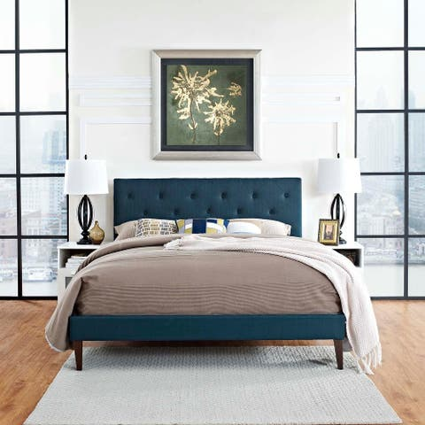 Tarah King Platform Bed with Squared Tapered Legs