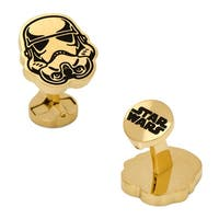 Stainless Steel Black and Gold Stormtrooper Cufflinks