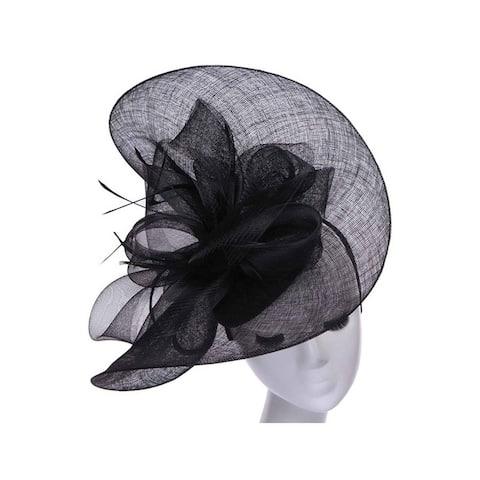 Womens Fashion Sheer Formal Sun Hat w/ Bow