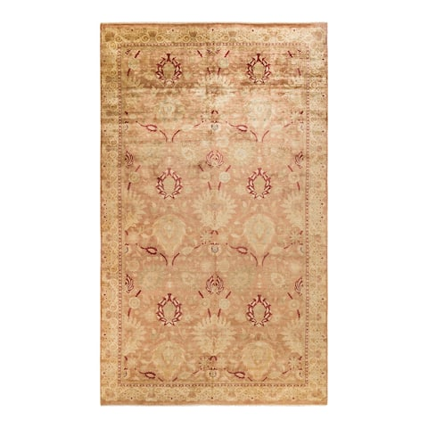 """Eclectic, One-of-a-Kind Hand-Knotted Area Rug - Brown, 9' 1"""" x 15' 2"""" - 9' 1"""" x 15' 2"""""""