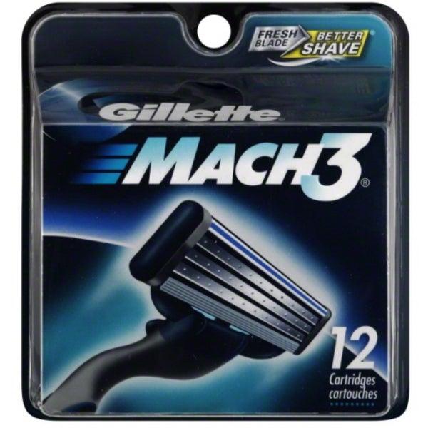 Gillette MACH3 Cartridges 12 Each