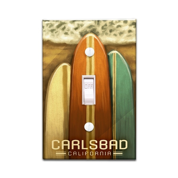 Shop Carlsbad Ca Surfboards Oil Painting Lp Artwork Light