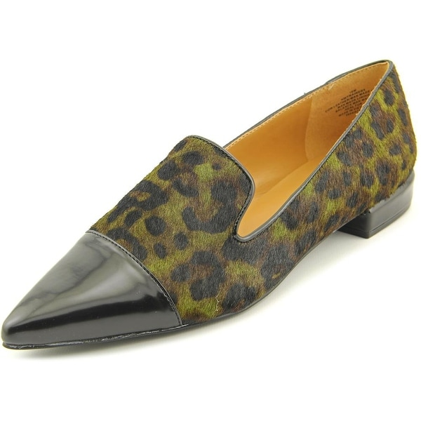 Nine West Trainer Women  Pointed Toe Suede Green Loafer