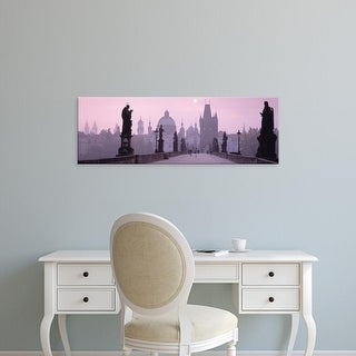 Easy Art Prints Panoramic Images's 'Charles Bridge And Spires Of Old Town, Prague, Czech Republic' Premium Canvas Art