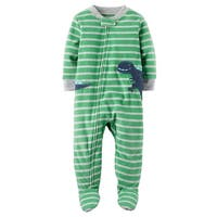 Carter's Little Boys' 1 Piece Dinosaur Fleece Pajamas, 3-Toddler - 3T