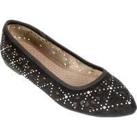 Rialto Womens Shay Almond Toe Ballet Flats