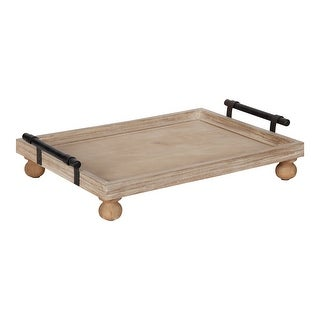 Link to Kate and Laurel Bruillet Wooden Footed Tray - 12x16 Similar Items in Accent Pieces