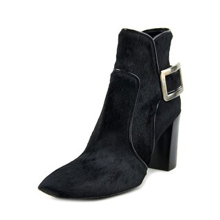 Roger Vivier Bottine Peppy T.85 Piping Women Square Toe Suede Black Bootie