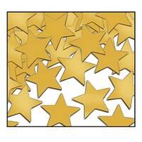 Club Pack of 12 Gold Fanci-Fetti Star Celebration Confetti Bags 1 oz.
