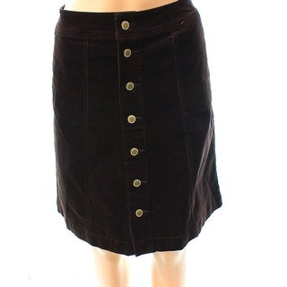 Charter Club NEW Brown Women's Size 4 Corduroy Straight Pencil Skirt
