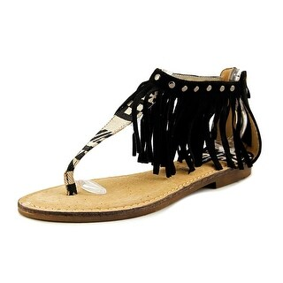 MTNG 53576 Women Open Toe Canvas Multi Color Thong Sandal