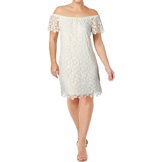 Lauren Ralph Lauren Womens Petites Alisanna Party Dress Off-The-Shoulder