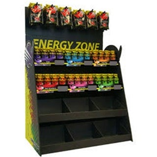 Rhino Rush 4-Tier Energy Shot & Tablet Combo Display with Topper