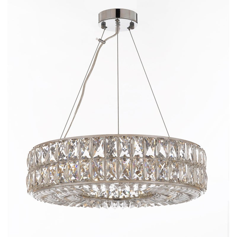 Thumbnail Crystal Spiridon Ring Chandelier Modern Contemporary Lighting Pendant 20 Wide