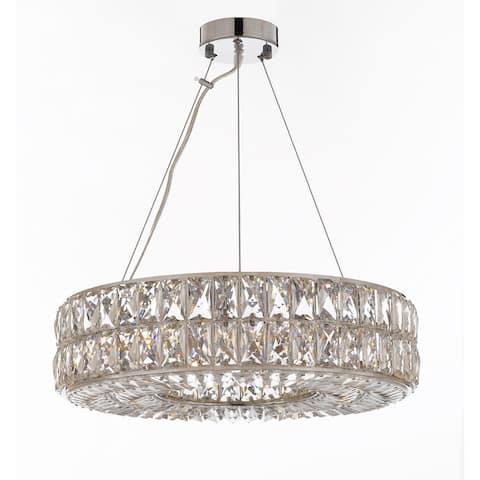 Crystal Spiridon Ring Chandelier Modern Light Pendant