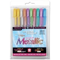 Sakura 57370 Gelly Roll Metallic Medium Point Pens 10/Pkg