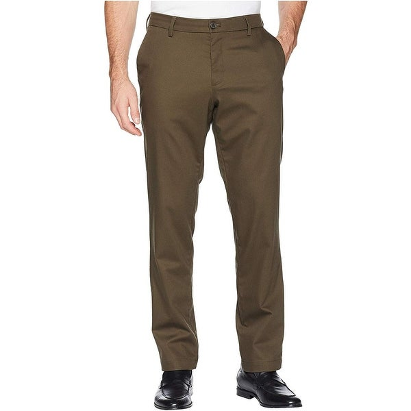 Dockers Mens Pants Brown Size 42x32 Signature Khakis Flat-Front Stretch. Opens flyout.