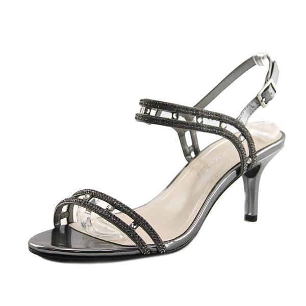 Caparros Happy Women Open Toe Canvas Silver Sandals