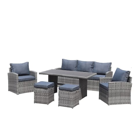 Moda Stylish Outdoor 6-Piece KD PE Rattan Sofa Set