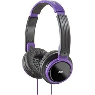 JVC Riptidz Stereo Lightweight Foldable Headphones (Violet)