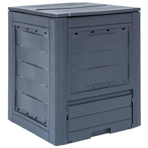"""vidaXL Garden Composter Gray 23.6""""x23.6""""x28.7"""" 68.7 gal"""
