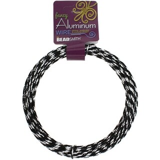 Aluminum Wire Diamond Cut 12 Gauge 12 Meter/Pkg (39.25')-Black
