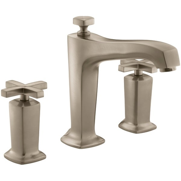 Shop Kohler K T16236 3 Margaux Deck Mounted Roman Tub Filler Trim With  Cross Handles   Free Shipping Today   Overstock   16800899