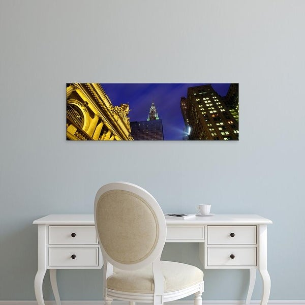 Easy Art Prints Panoramic Image 'Chrysler Building, Grand Central Station, NYC, New York City, New York' Canvas Art