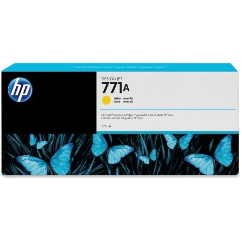 HP 771A 775-ml Yellow DesignJet Ink Cartridge (B6Y18A) (Single Pack)