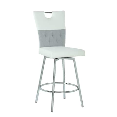Somette Valor 2-Tone Handle Back Counter Stool with Swivel Seat - Counter Stool