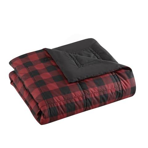 Eddie Bauer Mountain Plaid Red Throw Blanket