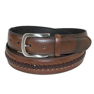 Tommy Hilfiger Men's Leather Belt with Center Lace