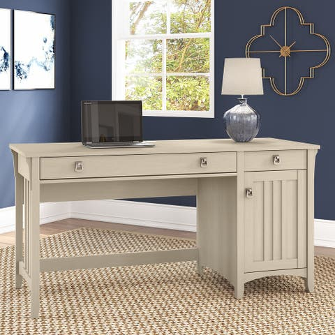 Salinas Computer Desk with Storage and Keyboard Tray by Bush Furniture
