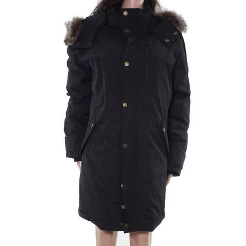 Pendleton Womens Jackets Deep Black Size Medium M Hooded Full Zip