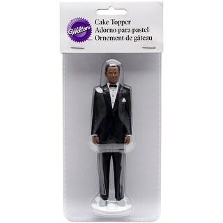 "Cake Topper 5.875""-Groom - African American"