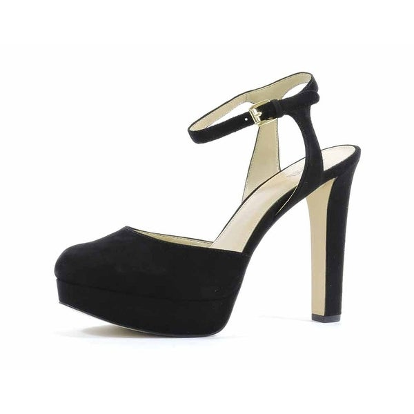 Michael Kors Womens Trish Leather Closed Toe Ankle Strap D-orsay Pumps