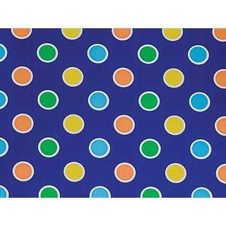 """Pack Of 1, 30"""" x 417' Fun Dots Stone Wrap Treeless Paper Gift Wrap Counter Roll Made In Usa"""