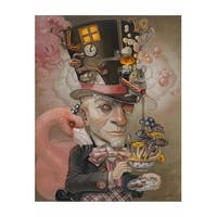 ''Mad Hatter'' by Leslie Ditto Fantasy Art Print (20 x 14 in.)