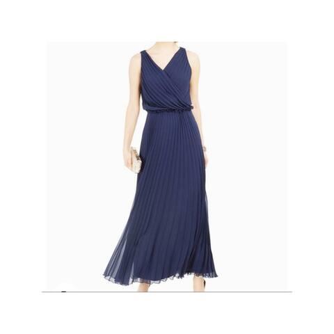 MSK Navy Spaghetti Strap Full-Length Dress 6