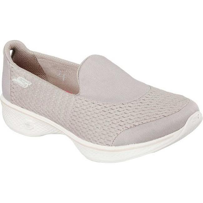 31dfd916ce Shop Skechers Women's GOwalk 4 Pursuit Slip On Walking Shoe Taupe - Free  Shipping Today - Overstock - 12250154