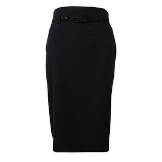 Nine West Women's Belted Stretch Pencil Skirt - 2