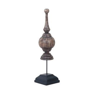 "GuildMaster 2516533  24"" Tall Hand Painted Wood Obelisk Statue"