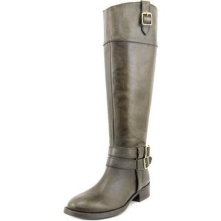INC International Concepts Fahnee Women Round Toe Leather Green Knee High Boot
