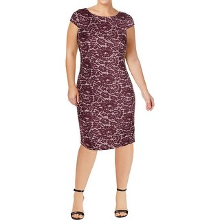 Tommy Hilfiger Womens Cocktail Dress Lace Print Knee-Length
