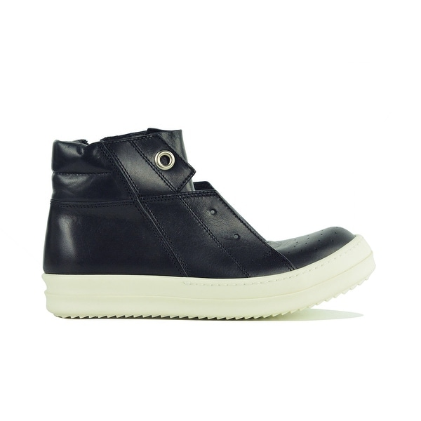 competitive price 43b76 f9d0b Rick Owens Women  x27 s black leather Island Dunk High-Top sneakers. Click  to Zoom